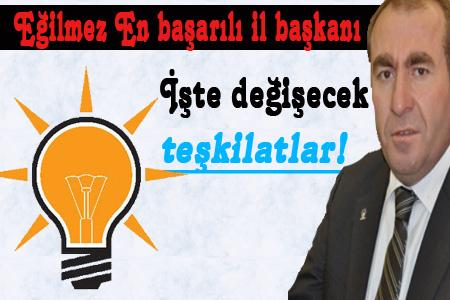 AK Parti Urfa Teşkilatlarını Görevden Alıyor