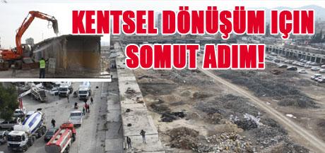 Büyükşehir yıkıma başladı VİDEO