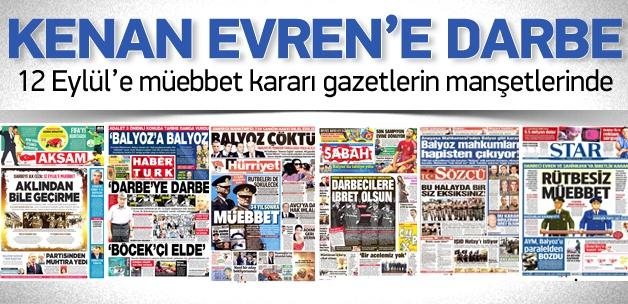 Darbecilere Muebbet Günün Gazete Manşetlerinde