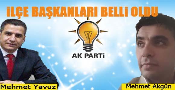 AK Parti'nin Suruç ve Bozova İlçe Başkanları belli oldu.