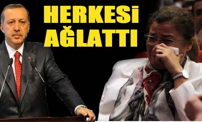 Erdoğan konuşunca hüngür hüngür ağladı