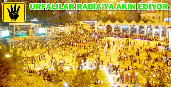 Urfalılar Rabia Meydanına akın ediyor