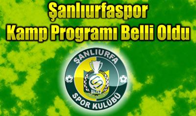 Urfaspor'un Kamp programı belli oldu