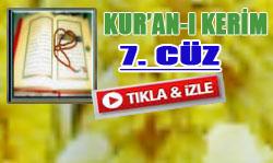 Kur'an'ı Kerim Hatimi 7. Cüz