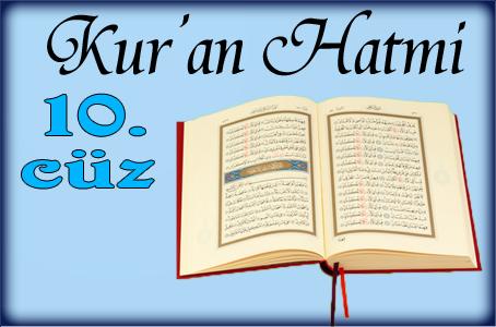 Kur'an'ı Kerim Hatimi 10. Cüz dinle