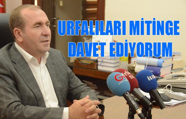 Eğilmez, Urfalıları Erdoğan'ın Mitingi'ne Davet Etti-VİDEO