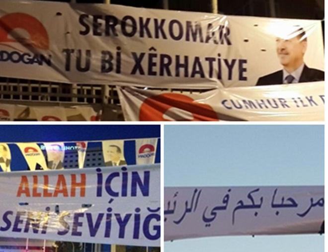 Haliliye Teşkilatı Erdoğan'ı üç Dilde karşıladı