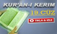 Kur'anı Kerim 19.Cüz