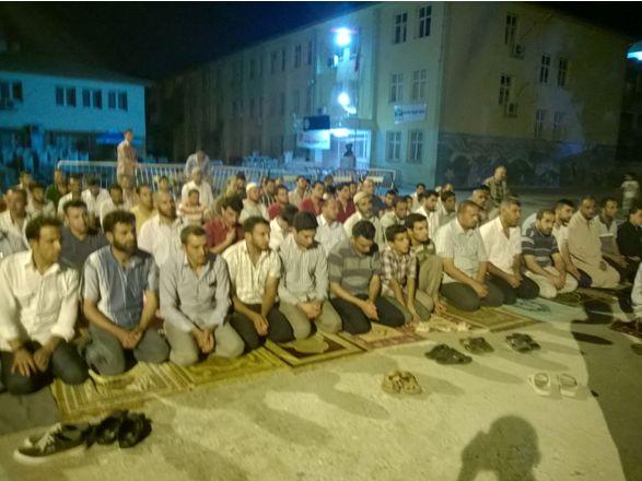 Akçakale'de Filistinli şehitler için namaz kılındı