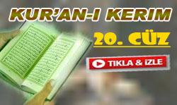 Kur'an-ı Kerim Hatmi 20. Cüz