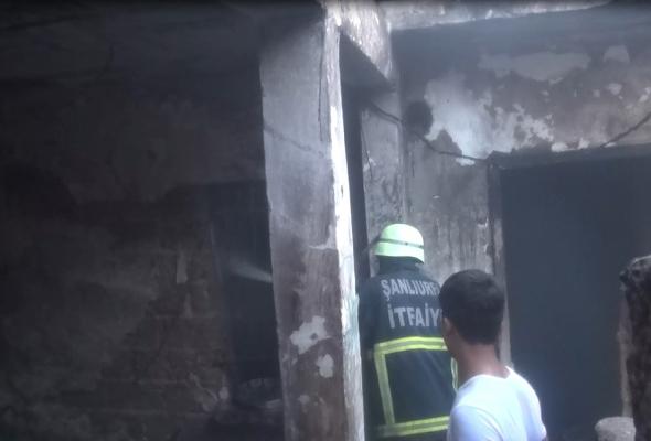 Şanlıurfa'da boş bir evde yangın çıktı