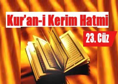 Kur'an-i Kerim Hatmi 23. cüz