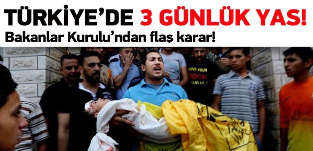 Gazze için Türkiye'de 3 günlük yas ilan edildi