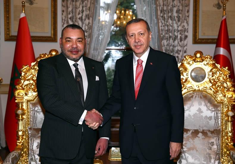 Cumhurbaşkanı Erdoğan, Fas Kralı 6. Muhammed ile görüştü