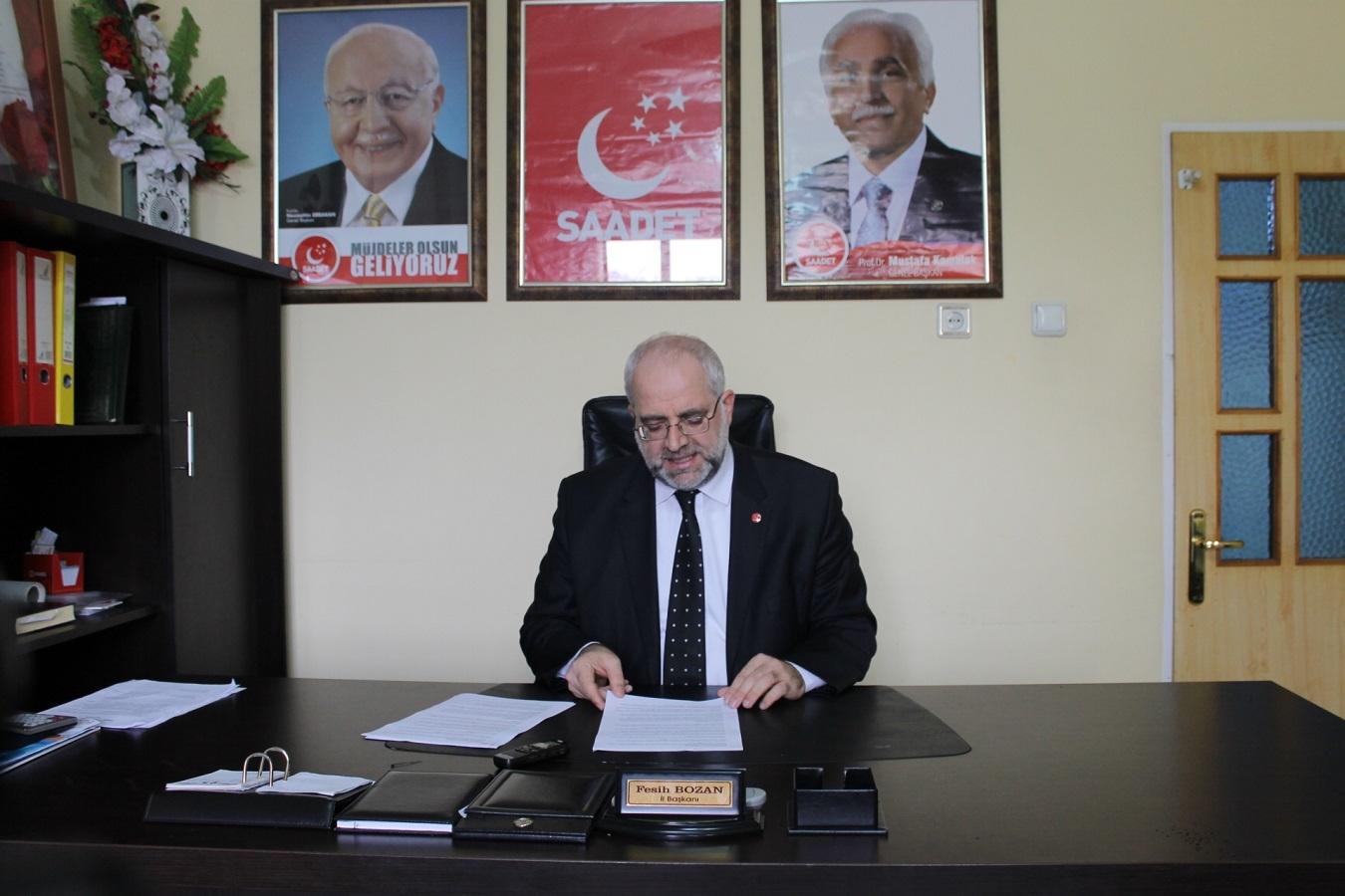 Saadet Partisi il başkanından Yılbaşı ve Fetih açıklaması