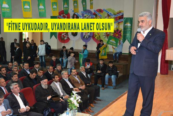 HÜDA PAR Genel Başkanı Zekeriya Yapıcıoğlu Urfa'da konuştu