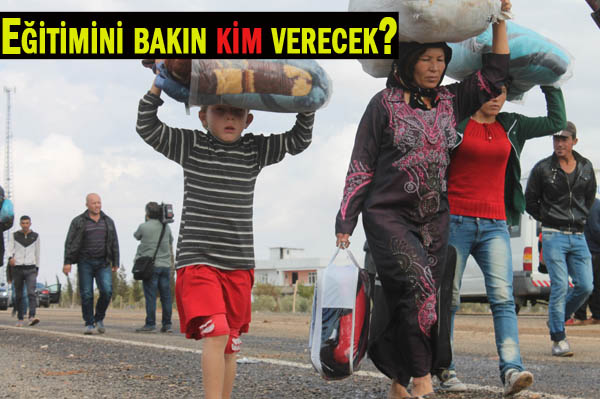 Suruç'ta 10 bin Kobanili çocuğa eğitim verilecek
