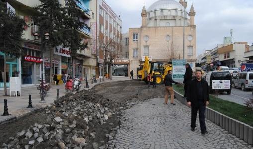Şanlıurfa tarihi bölgedeki yollar asfaltlanıyor