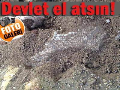 Şanlıurfa'da çıkan Mozaikler Tahrip Ediliyor!..
