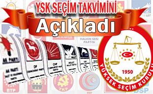 YSK Seçim takvimini ve katılacak partileri açıkladı