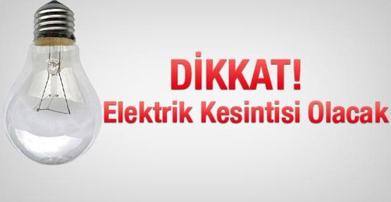 Urfa'nın Bazı mahallelerinde elektrik kesilecek