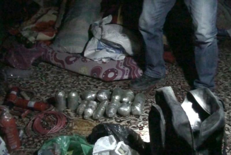 Suruç'ta el yapımı bomba ele geçirildi