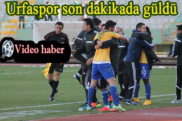 Urfaspor son dakikada güldü 1-0