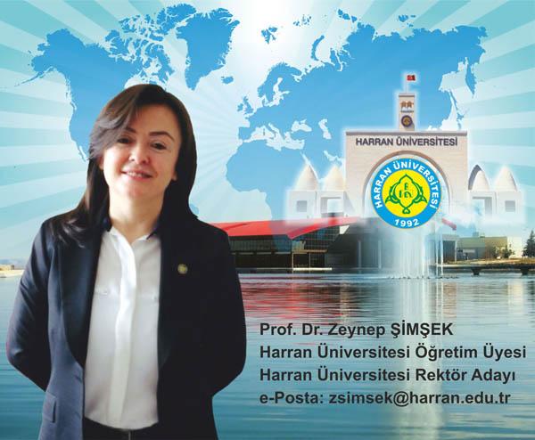 Harran Üniversitesine Zeynep Şimşek'de aday oldu