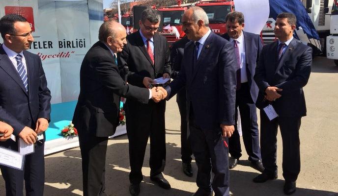 Türkiye Belediyeler Birliği'nden Hilvan'a Araç Desteği