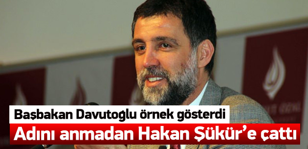 Davutoğlu isim vermeden Hakan Şükür'e çattı