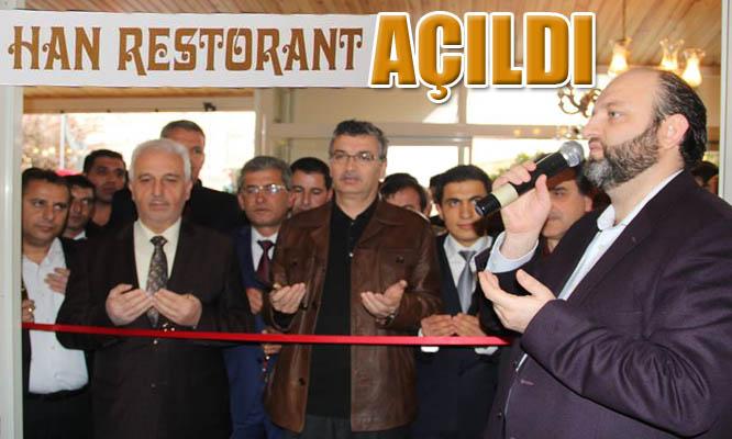 Han Restorant Karaköprü'de Açıldı