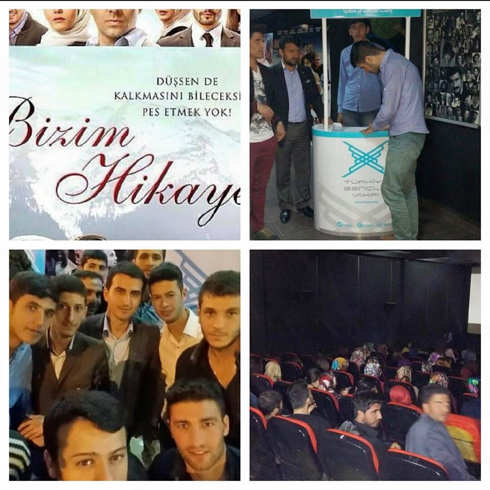 TÜGVAlı gençler 'Bizim Hikaye' filmini izledi