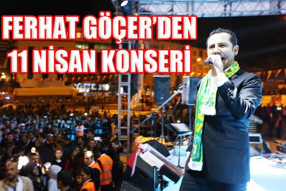 Ferhat Göçer'den 11 Nisan Konseri VİDEO