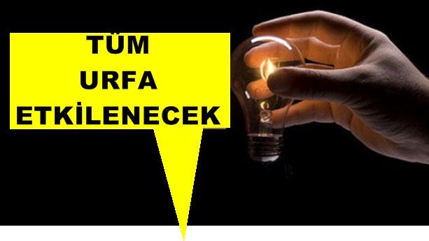Şanlıurfa'da 3 Gün Elektrik kesintisi var!