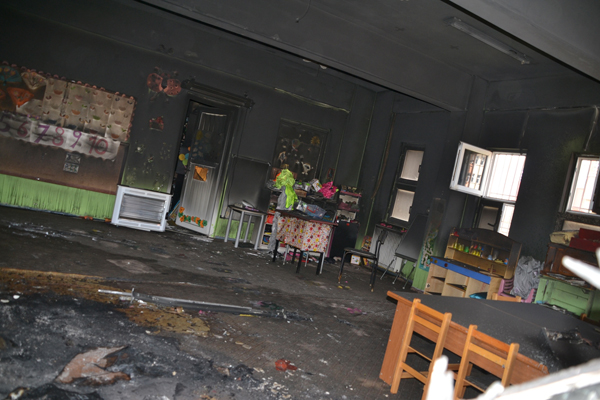 Viranşehir'de Anaokulunu kundakladılar