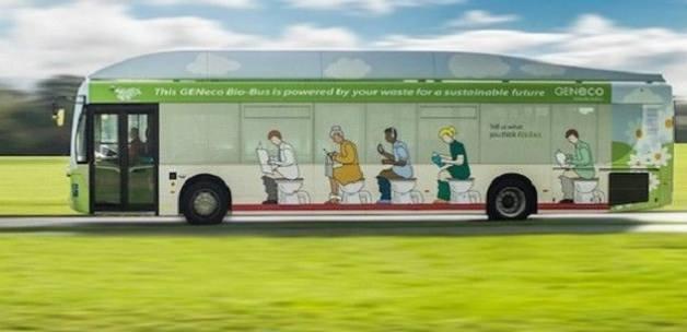 İnsan dışkısıyla çalışan otobüs ilk seferini yaptı