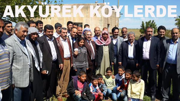 Akyürek, Viranşehir köylerinde