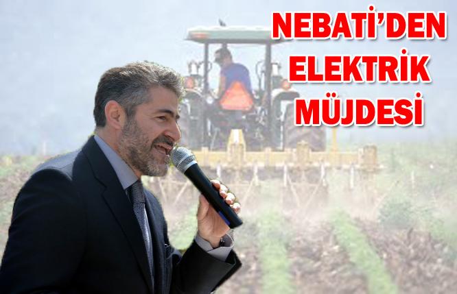 Nebati'den Şanlıurfalı çiftçiye elektrik müjdesi