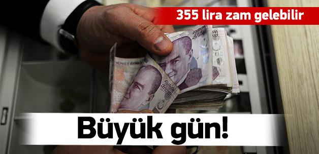Emekliler için büyük gün! 355 lira zam gelebilir