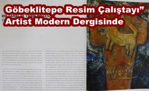 Göbeklitepe Resim Çalıştay Artist Dergisinde