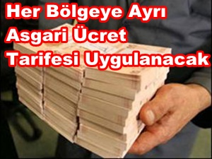 Bölgesel Asgari Ücret Tarifesi