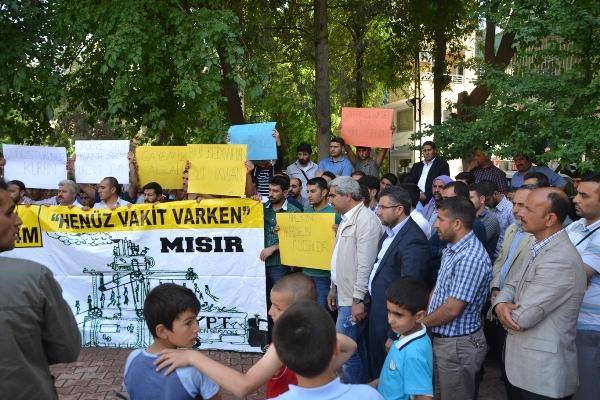 Viranşehir'den Muhammed Mursi'ye destek