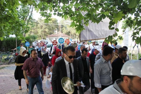 Ceylanpınar'da engelliler için yürüyüş yapıldı