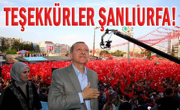 Erdoğan Şanlıurfalılara Teşekkür Etti