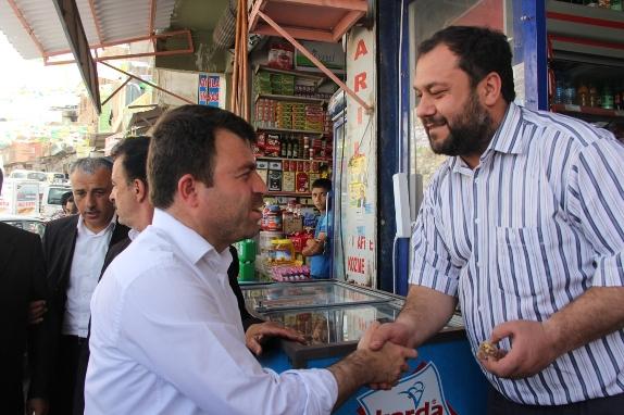 Bağımsız aday Yavuz, Birecik'te ilgi gördü