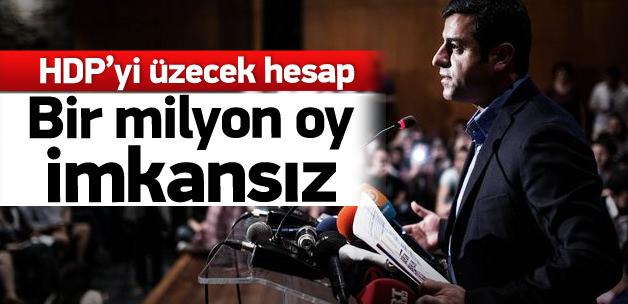 HDP'ye bir milyon oy imkansız