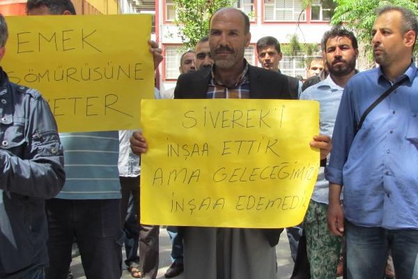 Urfa'daki Fayans ustaları sigorta haklarını istedi