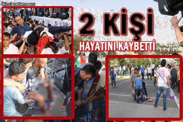 HDP'nin Diyarbakır mitinginde patlama: 2 ölü