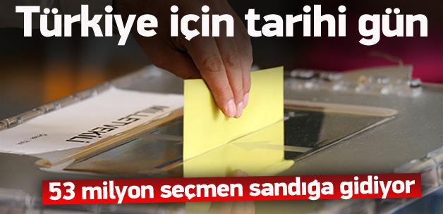 Oy verme işlemi Saat 8:00'de başlıyor