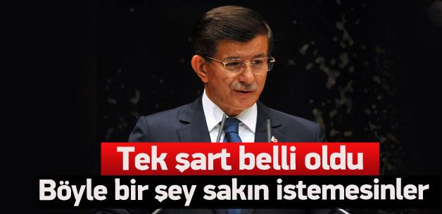 AK Parti'nin koalisyon için tek şartı var